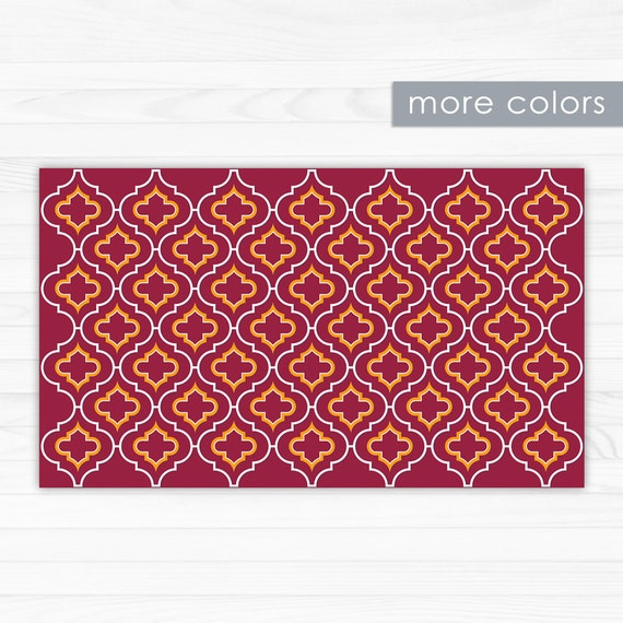 Red Area Rug Kitchen Rug Or Doormat With Indian By ArtMats