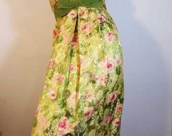 FREE  SHIPPING Vintage 1950 Couture Gown
