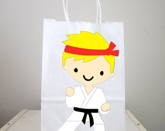 Karate Goody Bags, Karate Favor Bags, Karate Party Bags