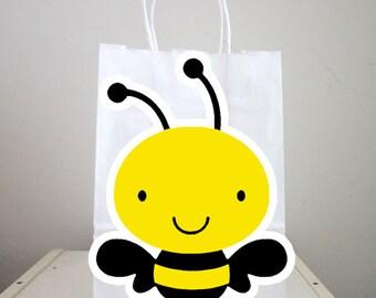 Bumble Bee Goody Bags, Bee Goody Bags, Bee Favor Bags, Bee Party Bags, Bee Gift Bags