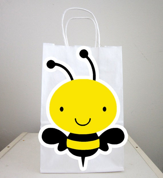 Favorite Bumble Bee Goody Bags, Bee Goody Bags, Bee Favor Bags, Bee Party  DT08
