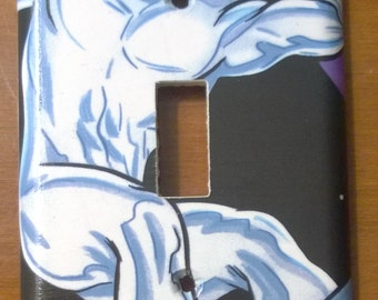 Silver Surfer comic book light switch cover