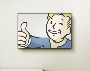 Birthday ps frames etsy for Fallout 4 canvas painting