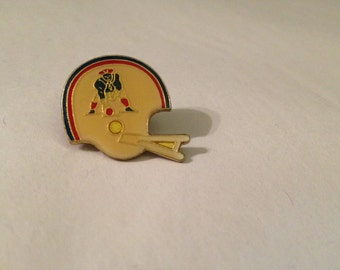 Vintage Football Helmet Pin - Red, White, and Blue Patriotic Pin