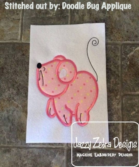 Mouse 101 Applique embroidery Design - farm Appliqué Design - mouse Applique Design