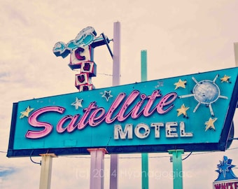Nursery Wall Art, Jersey Shore Art, Vintage Motel Sign, Retro Modern, Beach Decor,  Teal, Pink, Cream, Travel Photography