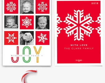 Custom Family Photo Holiday Card / Personalized Holiday Card / Christmas Card / Printed or Printable Holiday Photo Card  - Printed