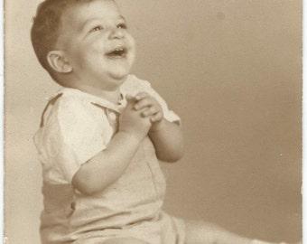 1945 Photo Little Boy Mike Palmer or Palmeri