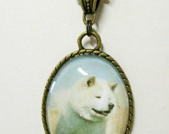 Akita pendant with chain - DAP09-059