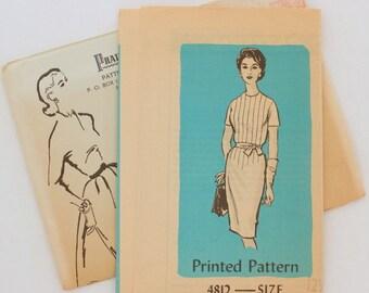 """Anne Adams 4812 · sz 12.5 bust 35"""" · Womens 1960s Pattern"""