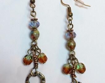 Bollocks Earrings (tasteful of course!) Handmade, Elemental, Subtle Feminist, Goddess, Tribal