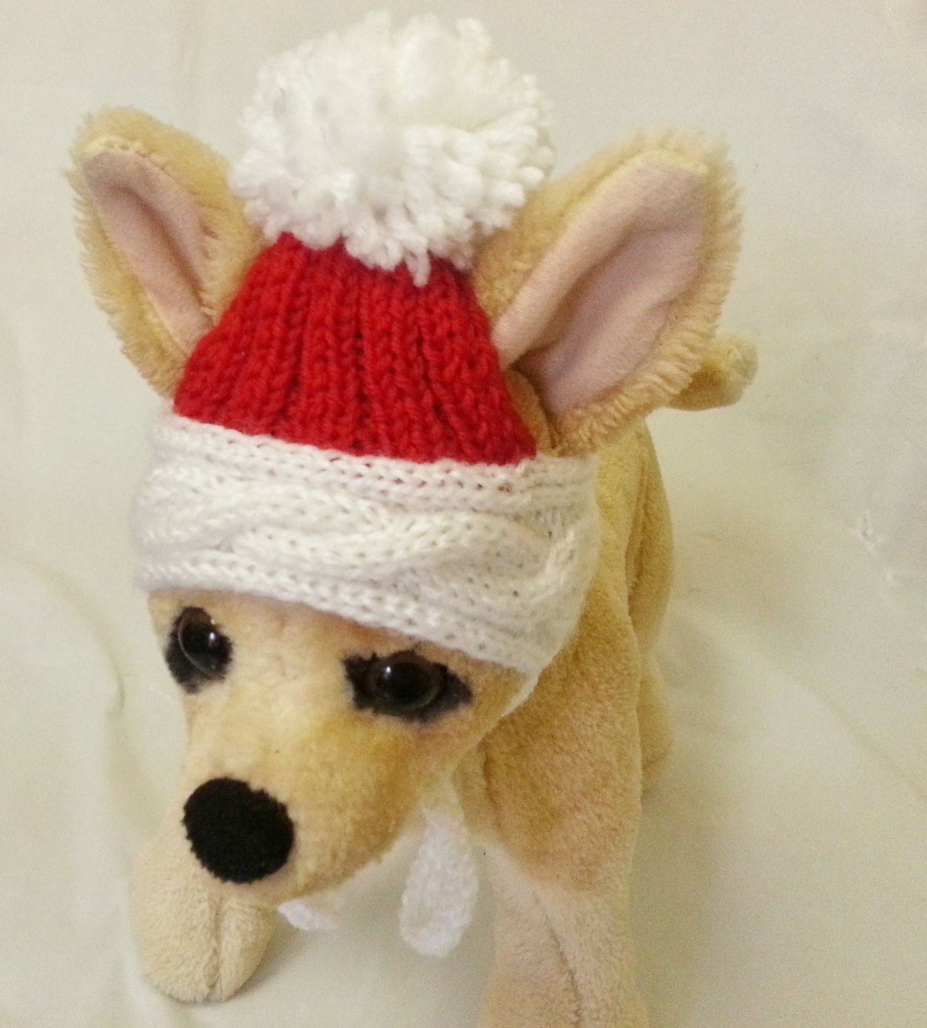 Pet Clothes Hat for Small Dog Hand Knitted Christmas Hat