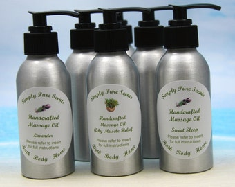 Massage Oil / Aromatherapy Massage Oil / Organic Massage Oil / Essential Oil Massage / Body Massage Oil / Body Oil