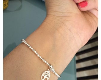 Bracelets with coral pendants marine brass