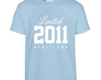 2011 Limited Edition Birthday Tshirt, Kids 5th Birthday Tshirt, Children's Birthday Tshirt, Gift for Child Birthday TH-2011Ts