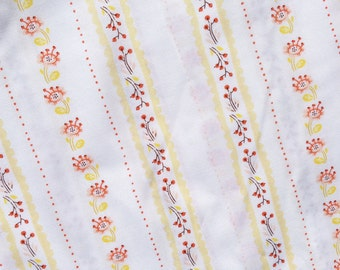 FQ or More - Heather Ross - West Hill Floral  Stripe - Cotton Fabric
