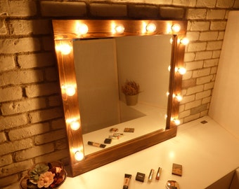 large vanity mirror with lights. Hollywood mirror with lights  rustic makeup bathroom wooden lighted vanity large