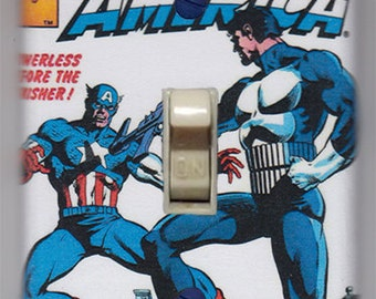 Captain America Light Switch Cover Plate - Captain America 241 Punisher