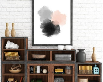 Modern Circle Art, Scandinavian Print, Geometric Poster, Abstract Art Print, Art Print, Modern Wall Art, Large Wall Print, Abstract Wall Art