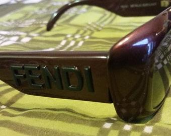 Fendi Metallic Burgundy Sunglasses Mod. FS 151