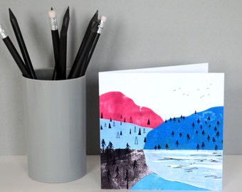 Mountains Greetings Card
