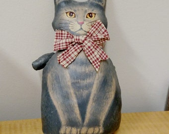 Vintage Painted Cloth Cat Doll