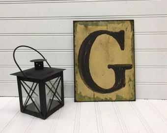 Metal Letters/Letter G/Wall Letter/Wall Decor/Nursery/Initials/SSLID0220/Farmhouse/Wedding/Gallery Wall/Primitive/Rustic Letter/Wall Words
