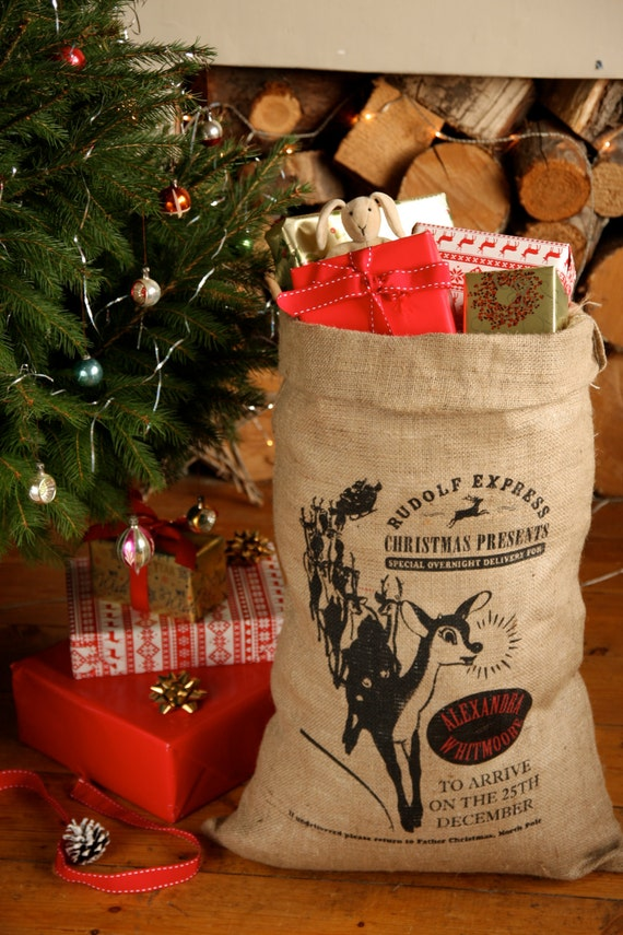 Personalized Santa Sack, Rudolph Design