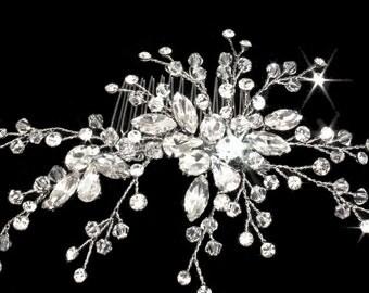 Crystal wedding comb, bridal crystal hair comb, bridal hair clip, wedding hair accessory, wedding comb, wedding hair clip, crystal hair vine