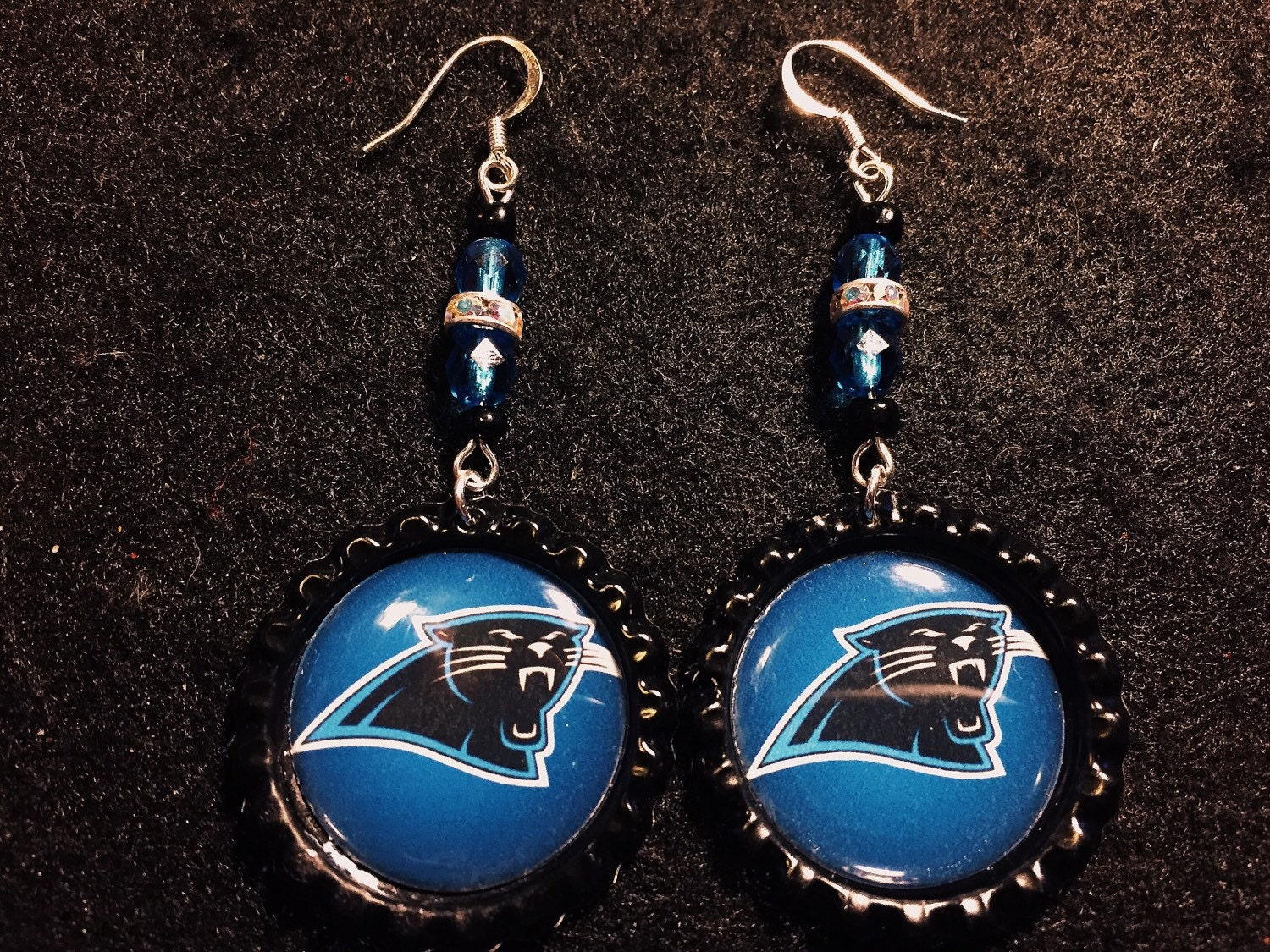 carolina panther jewelry carolina panther inspired earrings 6595