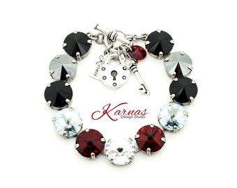 BIG NIGHT OUT 12mm Crystal Rivoli Bracelet Made With Swarovski Elements *Pick Your Finish *Karnas Design Studio *Free Shipping*