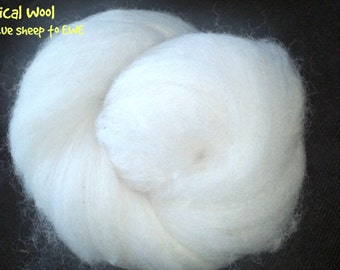 Wool fleece batts, cleaned and carded - 40g