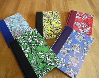 Handmade A5 Notebooks, bold and beautiful designs.