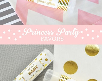 Exceptional Princess Baby Shower Favor Lip Balms   Princess Party Favors   Princess  Birthday Favors Ideas (