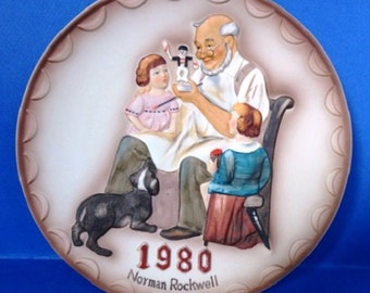 """Norman Rockwell """"The Toymaker"""" 1980 First Annual Collector Plate"""