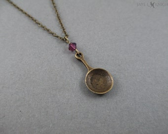 Tangled Fry Pan Charm Necklace - Rapunzel - Flynn Rider - Bronze Charm