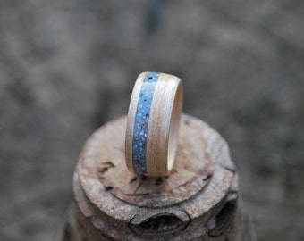 Wood ring - Bentwood Ring - Wood Wedding Bands - Wooden Engagement Rings-  White Oak Wood Ring - Inlay Wood Ring - Ring Wood - Custom Rings