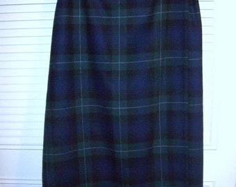 Skirt 18, Vintage Eddie Bauer Watchplaid Wool Maxi Wrap Skirt - What a Look !  Size 18 - 20 see details