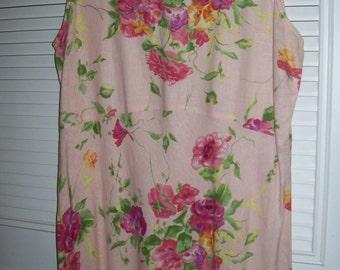 Muu Muu 16,  Pink Linen Muu Muu Maxi Length Resort Calling Size 16 see details