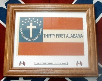American Civil War Flag, Southern CSA Christian Flag....31st Alabama Infantry