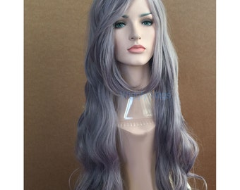 Super long dusty purple curly wig Taro curly long hair Synthetic  wig - high quality wig - ready to ship.