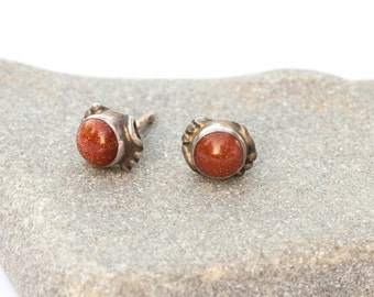Carnelian silver studs, silver stud earrings, Sunstone studs, Carnelian studs, tiny silver earrings, Boho, natural stones, small studs