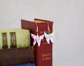 Butterfly Origami Earrings - Paper earrings - patterned