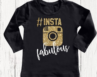 Instagram T Shirt, Girl Tees, Girls Tees, Girls T Shirt, Tops for Girls, T Shirt for Girls, Trendy Baby Clothes, Shirts for Girls
