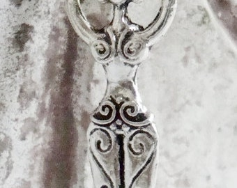 Belly Dancer Pendant,Goddess Charm,