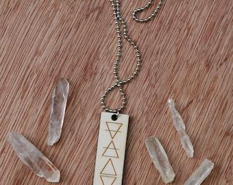 Laser Etched Four Elements Pendant