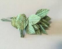 GREEN FLORAL LEAVES,silk green leaves,green silk leaves,green craft supplies,flower supplies, flower arranging supply, medium leaves