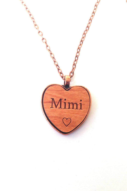 mimi necklace pendant mimi s jewelry necklace wood