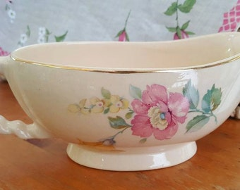 Gravy Boat - Sienna Ware, The Crescent China Co