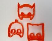 Cat, Owl & Gekko Masks Small Fondant Cutter Set